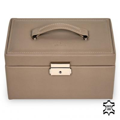 jewellery case Elly/ taupe (leather)