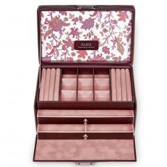 jewellery case Elly, bordeaux, florage