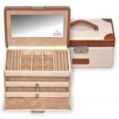 jewellery case Elly, cream, travel