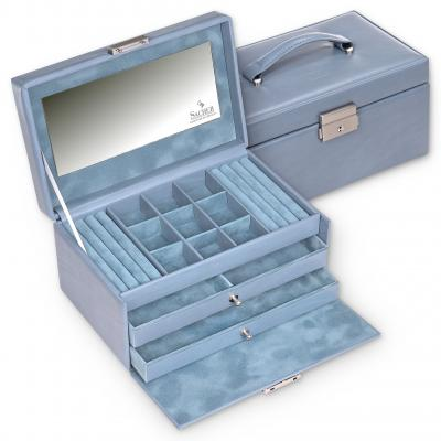 jewellery case Elly, aqua, pastello