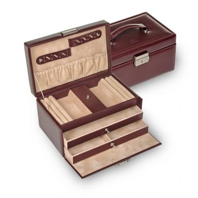 jewellery case Eva, bordeaux, new classic