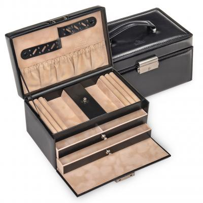 jewellery case Eva, black, new classic
