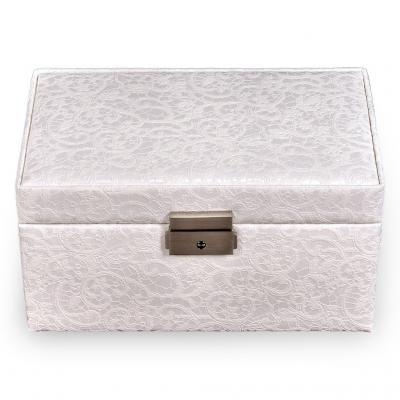 jewellery case Eva, white, tulle