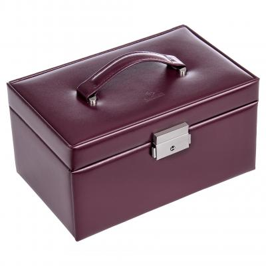 jewellery case Eva, leather, bordeaux, new classic