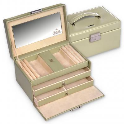 jewellery case Eva, light green, menta verde