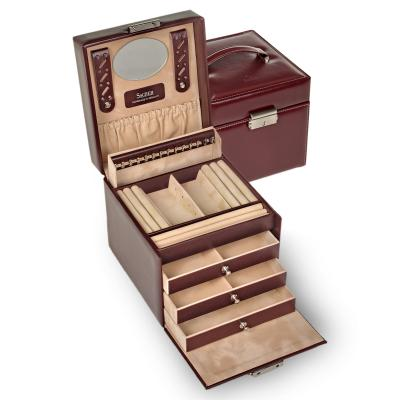 jewellery case Erika, bordeaux, new classic