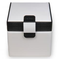 jewellery case Erika, white, nero bianco