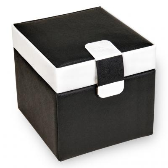 jewellery case Erika, black, nero bianco