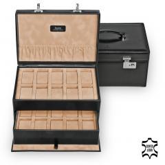 large watchbox / black (leather)