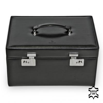 large watchbox , leather, black, new classic