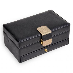 jewellery case Helen, black, saffiano