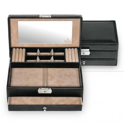 jewellery case Helen, black, new classic