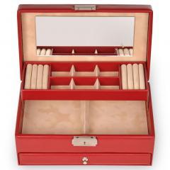 jewellery case Helen, red, new classic