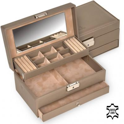 jewellery case Helen/ taupe (leather)