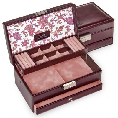 jewellery case Helen, bordeaux, florage