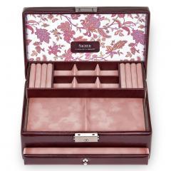 jewellery case Helen, bordeaux, florage