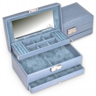 jewellery case Helen, aqua, pastello