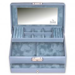 jewellery case Helen, aqua, pastello