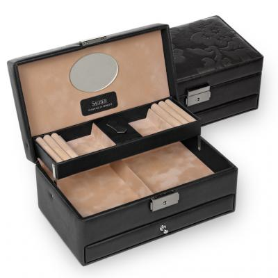 *While stock lasts* jewellery box Hanna, black, nature fiorella