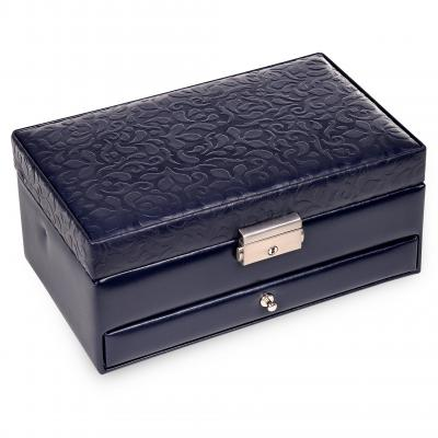 jewellery box Hanna, leather, navy, ornamento