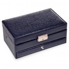 jewellery box Hanna, leather | navy | ornamento