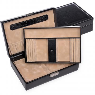 jewellery box Ilka, black, new classic