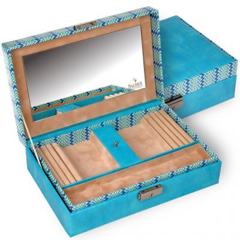 jewellery box Ilka, turquoise, masai