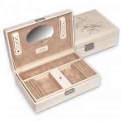 jewellery box Ilka, cream, fleur de lys