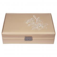 *While stock lasts* jewellery box Ilka, beige, fleur de lys