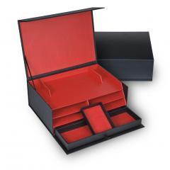 stationary box , black, efalin