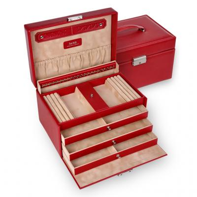 jewellery case Julia/ red