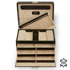 jewellery case Julia, leather | black | new classic