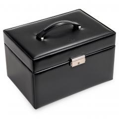 jewellery case Julia, leather, black, new classic
