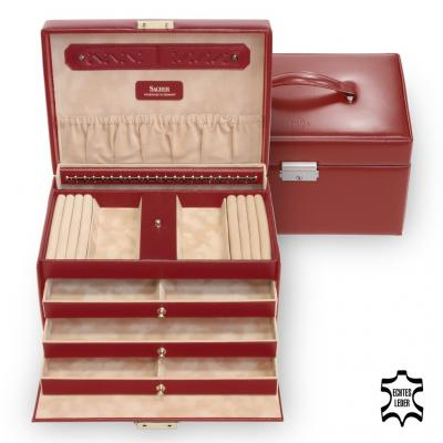 jewellery case Julia/ red (leather)
