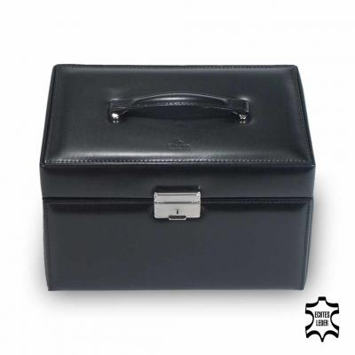 jewellery case Julia, leather | black | new classic