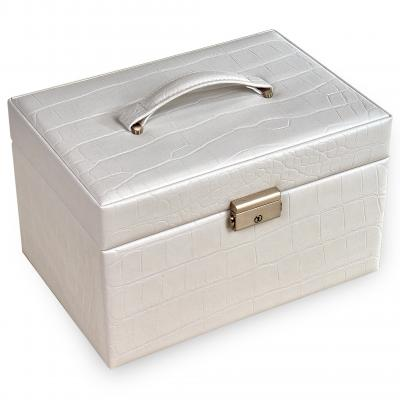 jewellery case Jasmin/ white (cowhide-leather)
