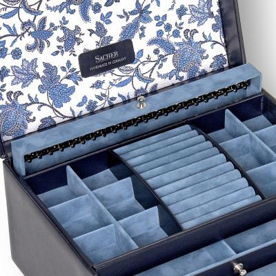 jewellery case Jasmin, leather | navy | florage