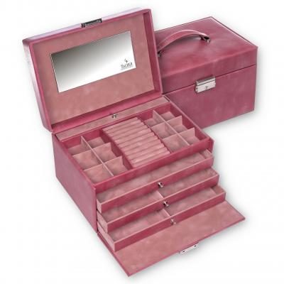 jewellery case Jasmin, old rose, pastello