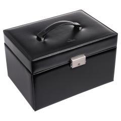 jewellery case Katja, leather, black, new classic