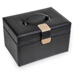 jewellery case Lena, black, saffiano