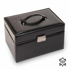 jewellery case Lena, leather, black, new classic