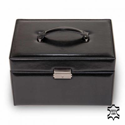 jewellery case Lena/ black (leather)