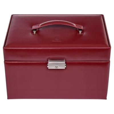 jewellery case Lena, leather, red, new classic