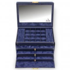 jewellery case Lena/ navy (leather)