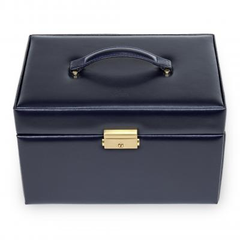 jewellery case Lena, leather, navy, acuro