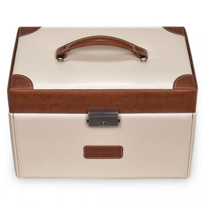 *While stock lasts* jewellery case Lena, cream, travel