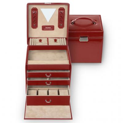 jewellery case Lisa/ red