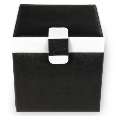 jewellery case Lisa, black, nero bianco