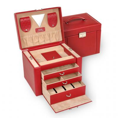 *While stock lasts* jewellery case Maxima, red, dollarino
