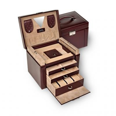 jewellery case Maxima, bordeaux, new classic